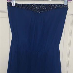 Zara TRF Blue-Violet Maxi Dress